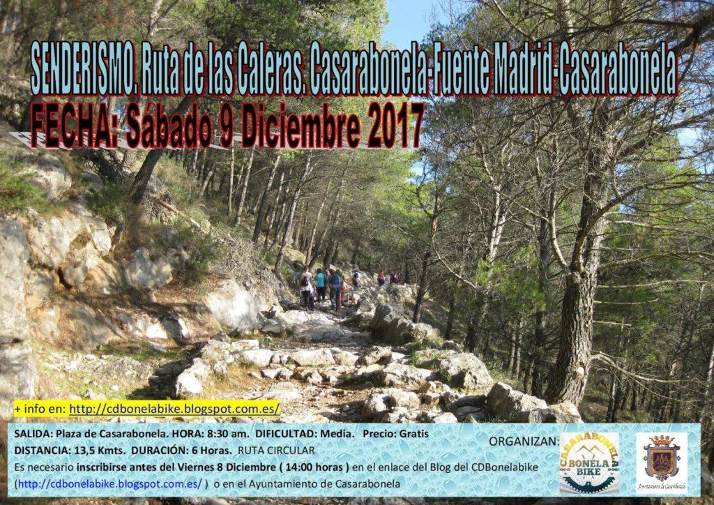 Cartel ruta Caleras - Diciembre 2017
