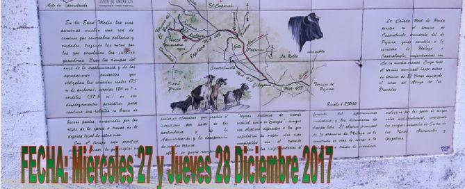 Cartel travesía Cararabonela-Ronda-Grazalema - Diciembre 2017