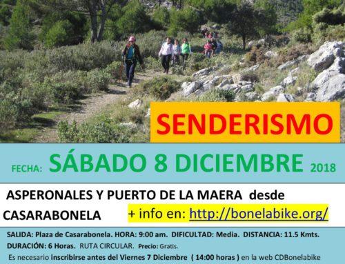 Ruta de Senderismo. Asperonales y Puerto de la Maera desde Casarabonela Fecha: Sábado 8 Diciembre 2018.