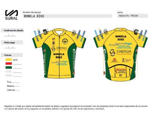 Presentación nuevo diseño de Equipación Ciclismo CDBonelabike 2019-2020