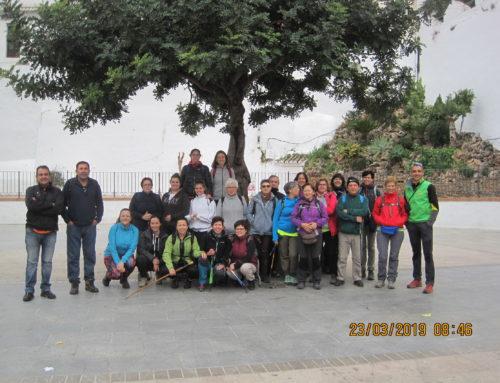 Ruta de Senderismo. Travesía Casarabonela – Alozaina. Proyecto: Conoce los pueblos vecinos. Fecha: Sábado 23 Marzo 2019.