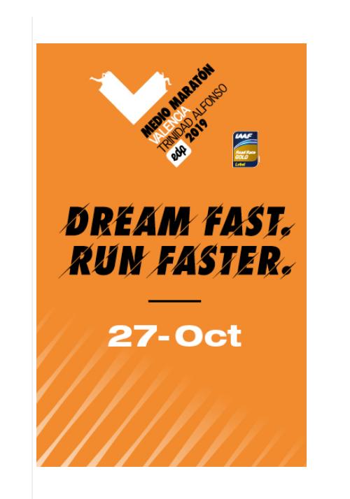 Media Maratón de Valencia. Fecha: Domingo 27 Octubre 2019