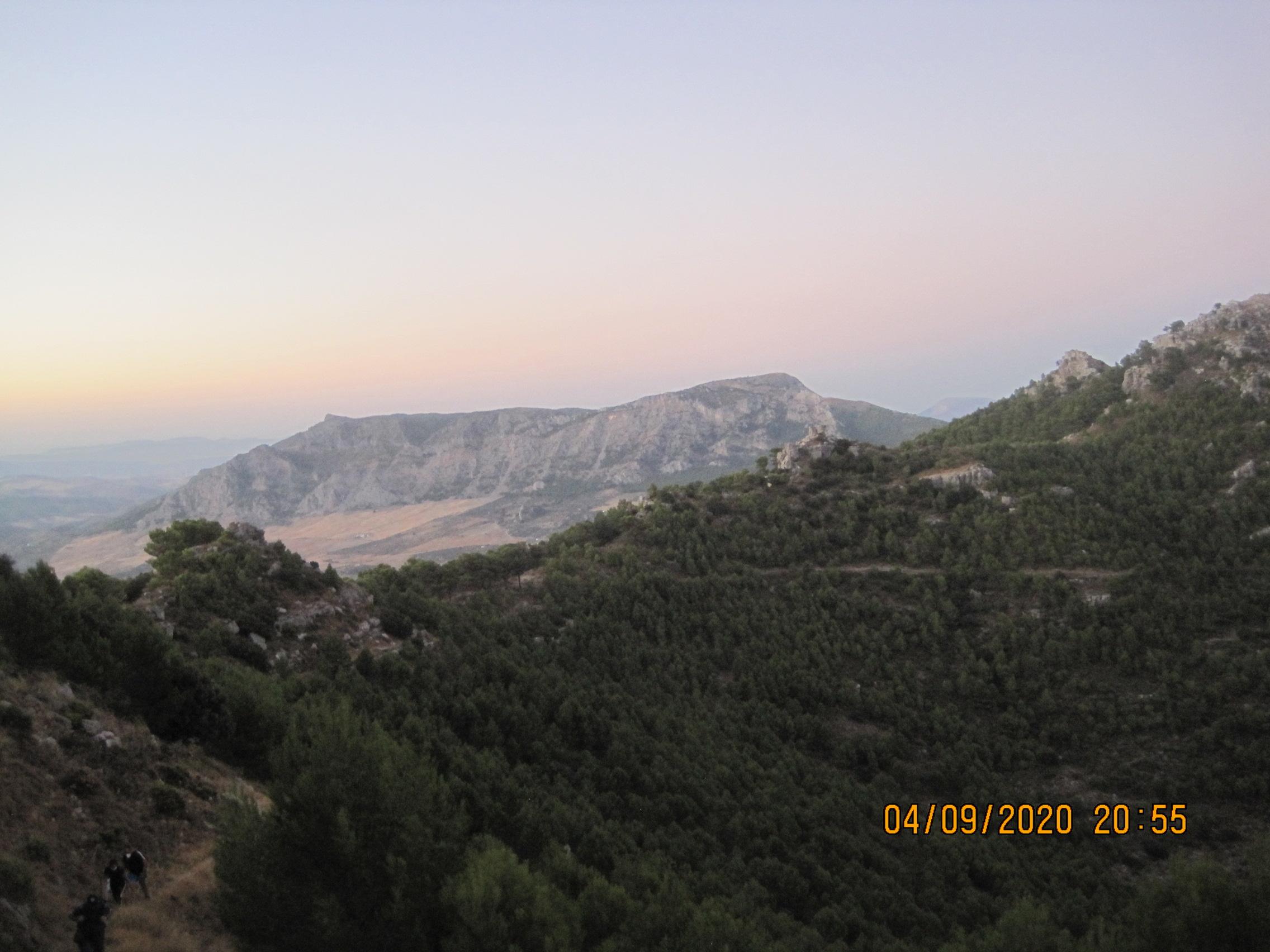 Ruta de Senderismo.  Vespertina Lineal a la cima de Sierra Prieta.  Casarabonela ( Sierra de las Nieves ). Fecha: Viernes 4 Septiembre 2020.