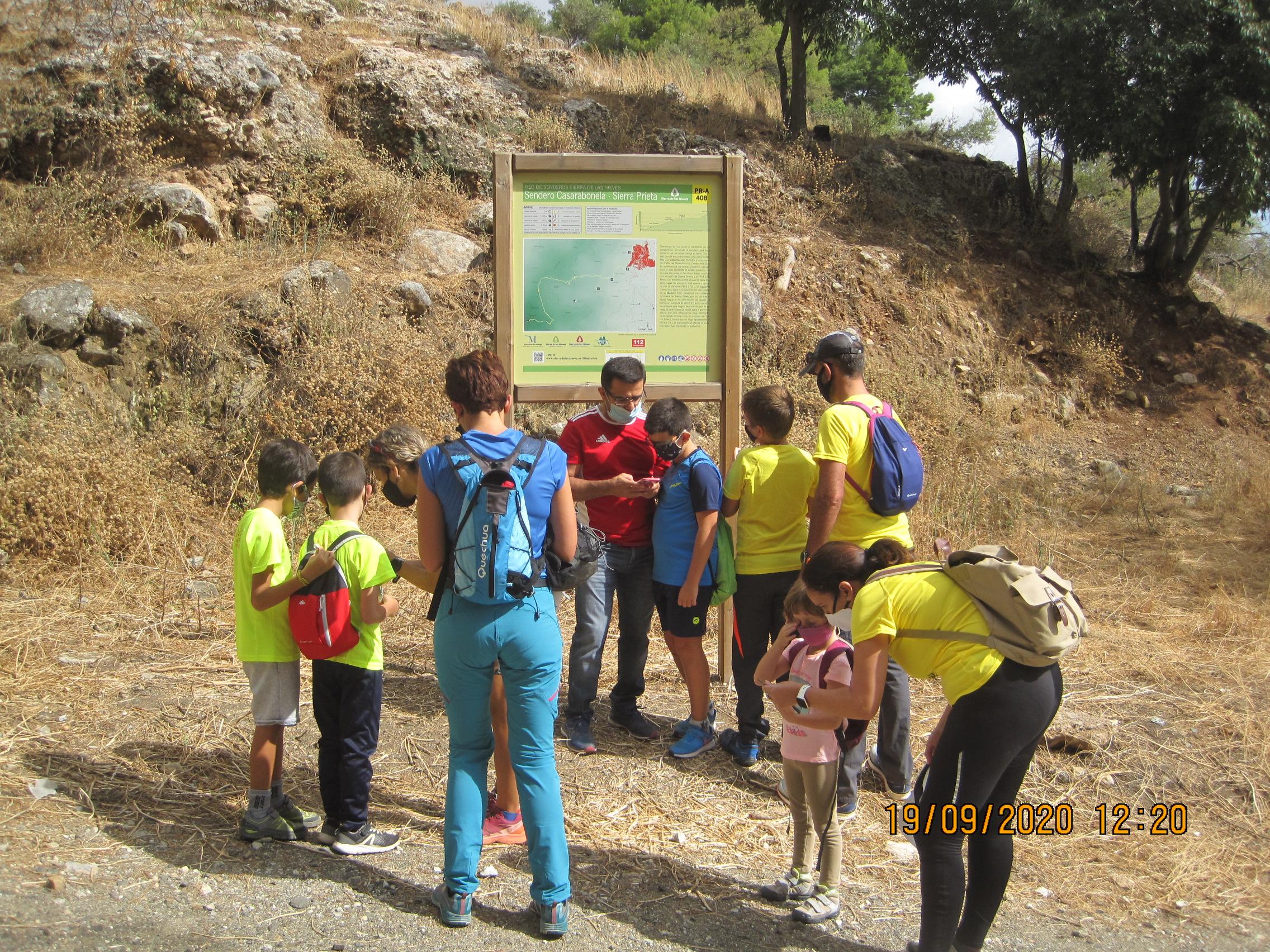 Ruta de Senderismo.  Marco Topo Ruta en la Naturaleza.  Casarabonela ( Sierra de las Nieves ). Fecha: Sábado 19 Septiembre 2020.