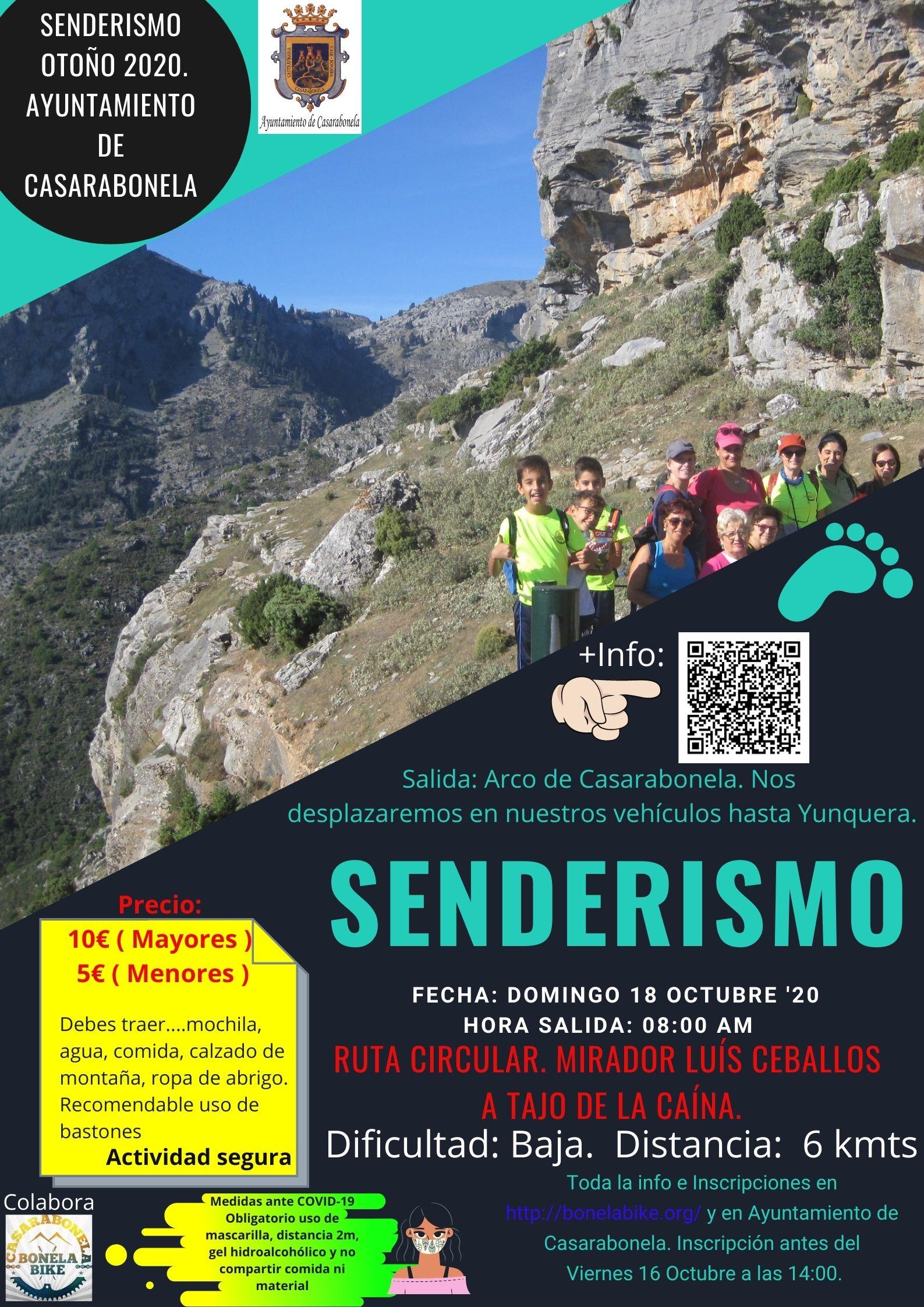 Ruta de Senderismo. Sierra de las Nieves. Mirador de Luís Ceballos a Tajo de la Caína. Fecha: Domingo 18 Octubre 2020.